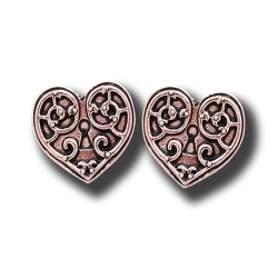 Anne Stokes Engineerium Range - Valkyrie Heart Earrings for a Warrior's Heart