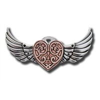 Anne Stokes Engineerium Range - Valkyrie Heart Brooch for a Warrior's Heart