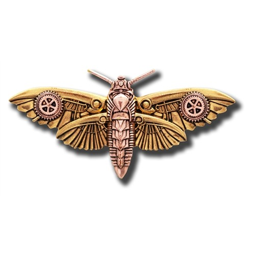 Anne Stokes Engineerium Range - Magradore's Moth Brooch for Personal Transformation