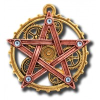 Anne Stokes Engineerium Range - Penta Meridia Pendant for Balance & Development