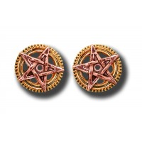 Anne Stokes Engineerium Range - Penta Meridia Earrings for Balance & Development