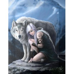 Protector Canvas Art Print - Anne Stokes