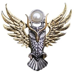 Owl of Athena Brooch for Magickal Wisdom