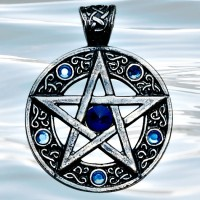 Nordic Lights - Celtic Pentagram Pendant for Willpower & Success