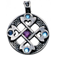 Nordic Lights - Celtic Cross Heart Pendant for Happy Friendships