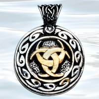 Nordic Lights - Moon Valknutr Pendant for Realizing Dreams