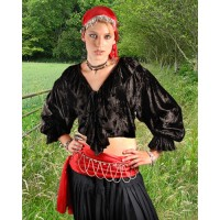 Pirate Blouse - Wisna in Black or Red Velvet