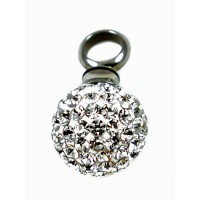Keepsake Love Vial - Rhinestone Ball