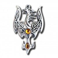 Mythic Celts Pendant - Avalon Phoenix for Successful Transition