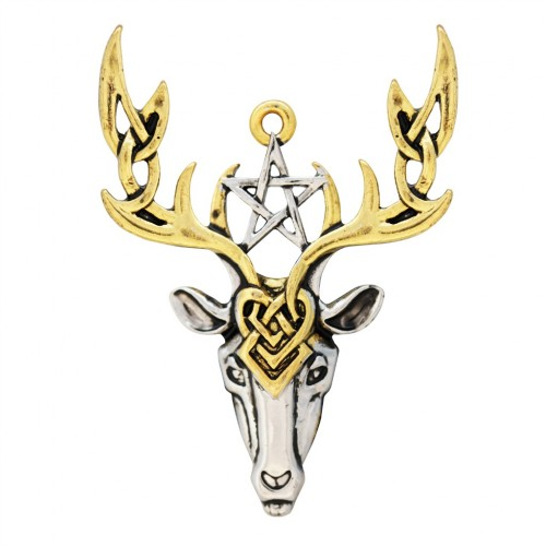 Mythic Celts Beltane Stag Fertile Energy Pendant