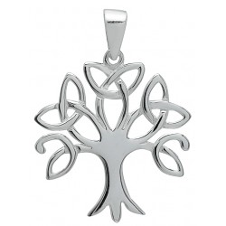 Symbology Pendant - Silver Trinity Tree of Life Sterling Silver
