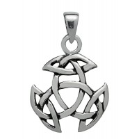 Symbology Pendant - Open Triad, Sterling Silver