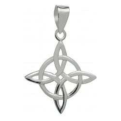 Symbology Pendant - Celtic Four Point Knot / Northern Knot for Good Luck in Sterling Silver