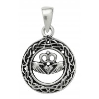 Symbology Pendant - Claddagh for Love Sterling Silver