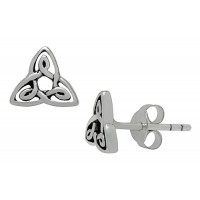 Symbology Earrings - Trinity Knot Petite Studs Sterling Silver