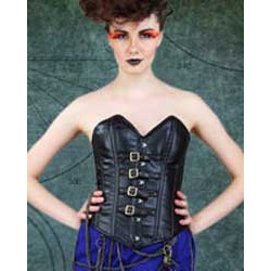 Steampunk Captain Of The Skies Overbust Buckle Corset