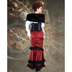 Steampunk Striped Underbust Corset