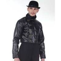Steampunk Leather Short Jacket