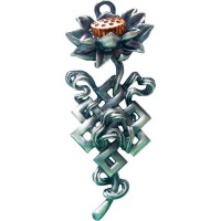 Briar Dharma Charms Pendant - Lotus Knot for Purity and Knowledge