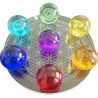 Crystal Ball Set - 7 Chakra Flower of Life