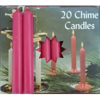 Candle - Chime 20 Packs - 13 Colors with FREE Fairy Star Chime Holder