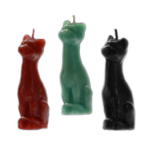 """Cat Figure Candles in Green, Red or Black  - 5.5"""""""