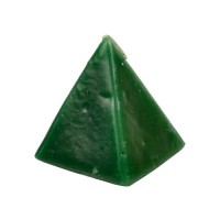 "Candle - 2.5"" x 3"" Pyramid in Green / Cherry"