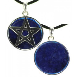 Pendant - Lapis with Pentagram