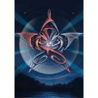 Anne Stokes Dragon Card 6 Pack - Dragon Reflection