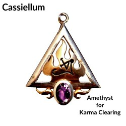 Briar Gemstones - Cassiellum, Amethyst for Karma Clearing