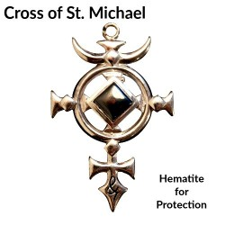 Briar Gemstones - Cross of St. Michael, Hematite for Protection