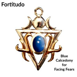 Briar Gemstones - Fortitudo, Blue Chalcedony for Facing Fears