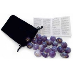 Rune Set & Booklet - Amethyst for Healing & Protection by Lo Scarabeo