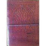 "5"" x 7"" Tree of Life leather blank book w/cord"