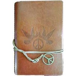 Brown Peace Sign Journal