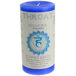 "Throat Chakra Pillar Candle 3"" x 6"""