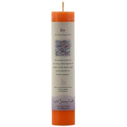 Joy Reiki Charged Pillar Candle