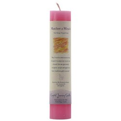 Manafest A Miracle Reiki Charged pillar candle