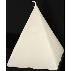 Pyramid Candle, White Strawberry 2 1/2""