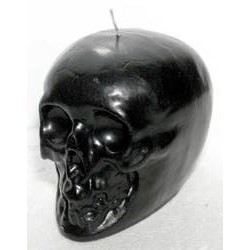 Black Skull Candle 3 1/2""