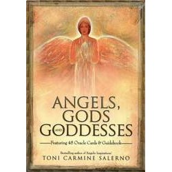 Angels, Gods, and Goddesses Oracle Cards & Guidebook by Toni Carmine Salerno