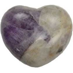 Amethyst Chevron Heart 1 3/4""
