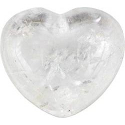 Clear Quartz Heart 1 3/4""