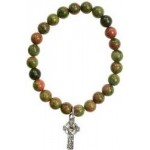 Unakite w/ Faith Cross in Silver