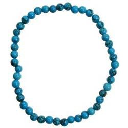 Turquoise (synthetic) 4mm Stretch Bracelet