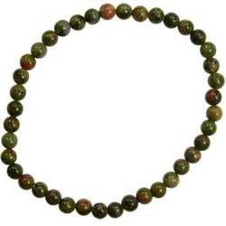 Unakite Jasper 4mm Stretch Bracelet