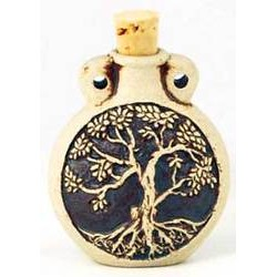 Tree of Life Raku Oil Bottle Pendant