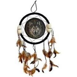 Wilde One Wolf Dreamcatcher 13""